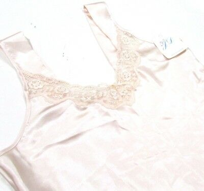 JD Peach Satin & Lace Camisole Top With Wide Straps - British Made Lingerie BNWT