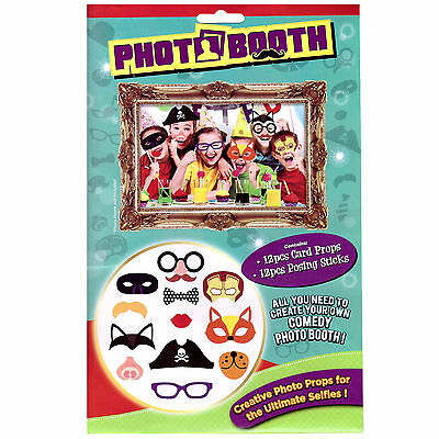 24Pc Photo Booth Selfie Props With Picture Kids Party Wedding Fun Gift New Funny