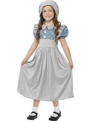 Victorian School Girl Costume Wartime World Book Week Day Fancy Dress Outfit
