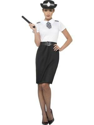 British Police Lady Costume Smiffys Fancy Dress Costume