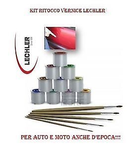 Colore Kit Vernice Ritocco 50 Gr Lechler Fiat Group N 268/a Bianco Gelato Ideal