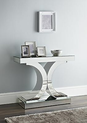 Mirrored console table hall table X factor stylish contemporary unit chic design