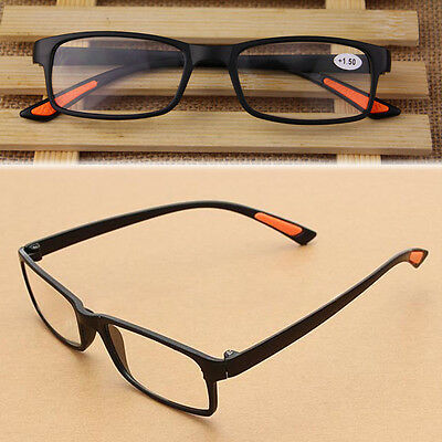 New Unisex Black Light Folding Eyeglasses Resin Flexible Reading Glasses 1.0-4.0