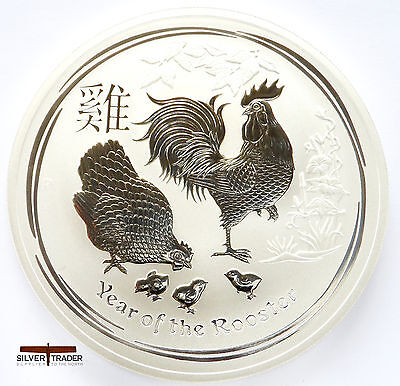 2017 1oz Australian year of the Rooster 1 ounce Silver Bullion Coin unc: