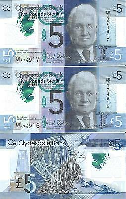 £5 Five Pound Note Clydesdale Bank  Plastic Limited Edition Rare Circulated