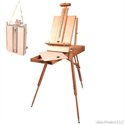 Portable Folding Wood Artist Easel Paint Sketch Drawing Tripod Stand Palette Pad