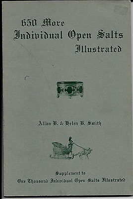 """Book, 650 More Individual Open Salts By Smith, 114 Plates, 9""""x6"""" Soft Cover 1977"""