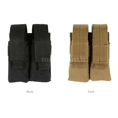Voodoo Tactical Double Pistol Magazine Pouch w/ Adjustable Straps MOLLE [Black]