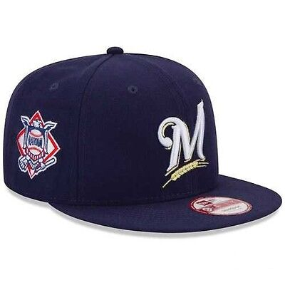 New Era MILWAUKEE BREWERS 950 Baycik Snap Conference Hat Snapback MLB Cap