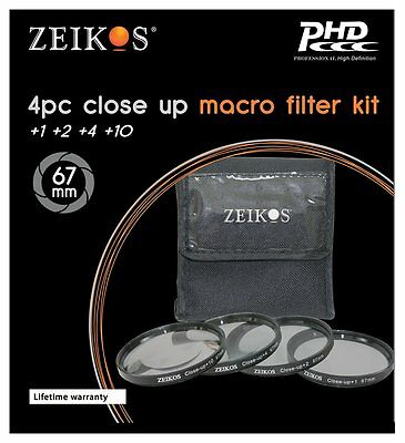 Lot of 6 Zeikos ZE-FLK67 67 mm Filter Kit
