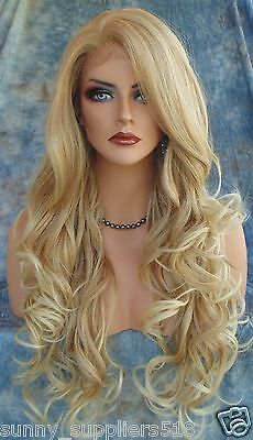 New Hot Fashion Party Wig Sexy Women's Long Wavy Blonde Cosplay Club Full Wigs