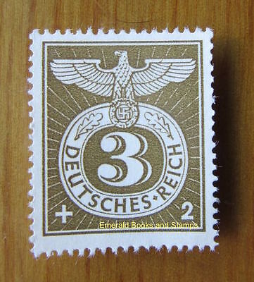 EBS Germany 1943 Special Cancellation Swastika Stamp Mint No Gum Michel 830