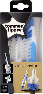 Tommee Tippee Closer to Nature Bottle & Teat Brush Assorted Colour  FREEDELIVERY