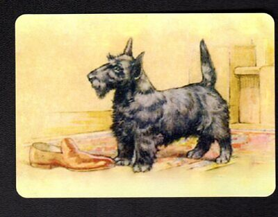 WIDE Swap/Playing Card - Scottish Terrier with Shoe
