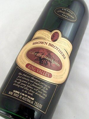 1991 BROWN BROTHERS King Valley Cabernet Sauvignon Isle of Wine