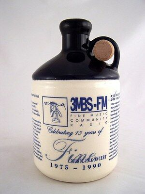 1990 release NV 3MBS FM Mt. AITKEN Tawny Port Ceramic Isle of Wine