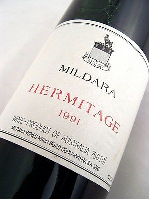 1991 MILDARA WINES Hermitage Shiraz - Great 25th Gift Isle of Wine