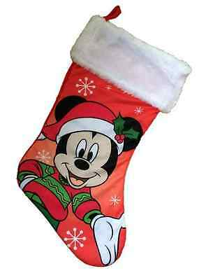 MICKEY MOUSE Boys Girls Christmas Stocking Kids Childrens Xmas Decoration NEW