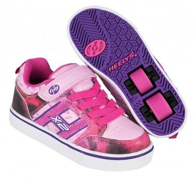 Heelys X2 Bolt Plus Shoes -Pink/Purple/Space with built in Lights +Free DVD