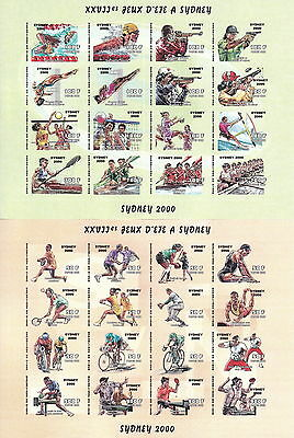 Niger 2000 Sydney Olympics Variety Imperf Pristine Mnh/muh Mint Stamp Min Sheets