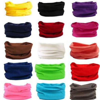 Multi Color Balaclavas Biker Cycling Neck Tube Scarf Snood Mask Warmer Bandana