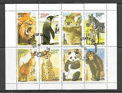 State of Oman - USED Wild Animals Sheet