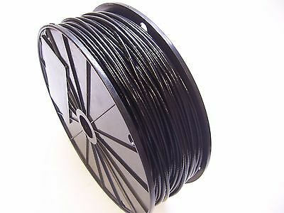 "BLACK Vinyl Coated Wire Rope Cable, 3/32"" - 1/8"", 7x7, 250 ft reel"