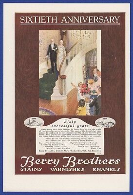 Vintage 1918 BERRY BROTHERS Stains Varnishes Enamels RARE Print Ad