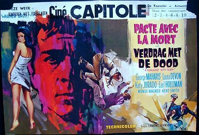 COVENANT WITH DEATH Belgian movie poster 1967 GEORGE MAHARIS RAY ELSEVIERS
