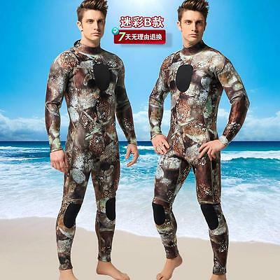 Rock camo Camouflage 3mm zipper back spearfishing Scuba Dive Wetsuit for men Hot