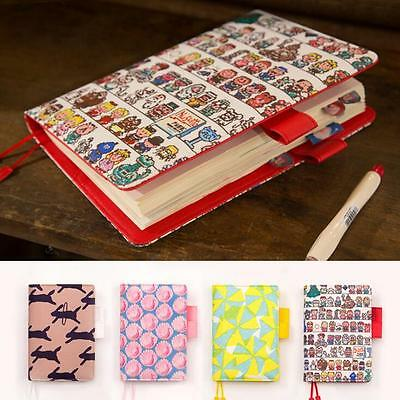 Floral funny cartoon planner A5/A6, 207 pages, weekly daily plan, PU Leather