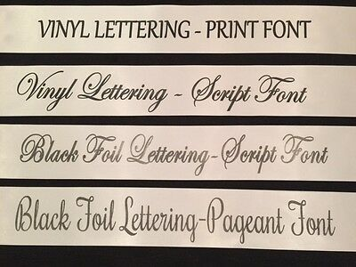 White/Black Homecoming Prom Pageant Sash Adult Size