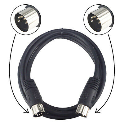 1.5M MIDI Cable 5 Pin DIN Male Plugs ADAPTER Shielded lead computer synth Cord