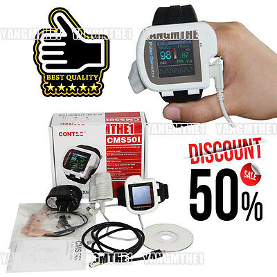 CMS50I contec wrist pulse oximeter+ standard adult probe,PR sound,OLED screen