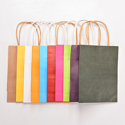 5x Party Paper Carrier Bags with Twisted Paper Handles Gift Favor Bag 21*15*8 EW