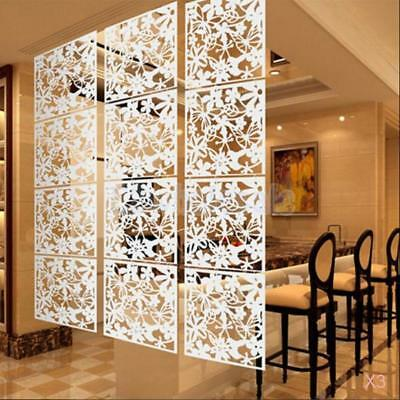 12x Flower Wall Sticker Hanging Screen Panel Room Divider Partition White