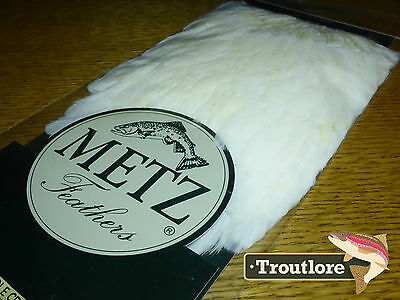 Metz Hen Saddle #1 Cream For Wings & Soft Hackle - New Fly Tying Cape Feathers