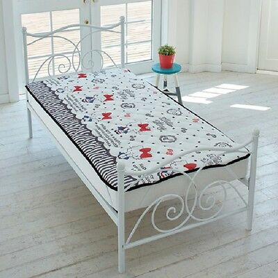 NEW! Hello Kitty Cold feeling Mattress pad Single size cover White JAPAN