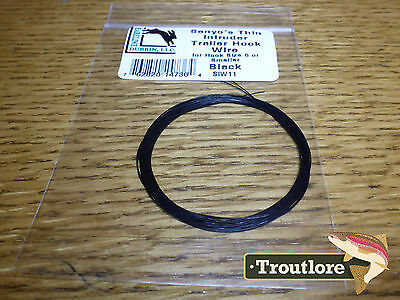 Black Hareline Senyo's Thin Intruder Trailer Hook Wire New Articulated Fly Tying