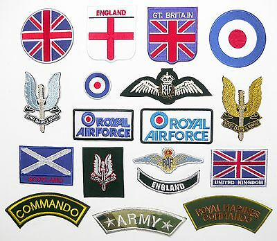 BRITISH FORCES UK PATCHES - Any Patch £1.95, Iron-On, Free 1st Class Post, UK