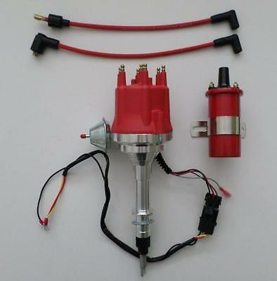 Small Cap AMC/JEEP INLINE 6 232-258 6 Cylinder HEI Distributor+45,000 VOLT COIL