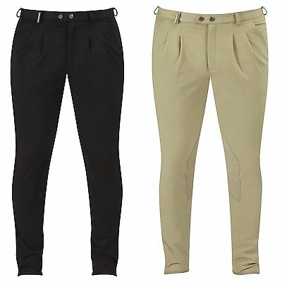 Caldene Allerthorpe Stretch Woven Faux Suede Knee Patches Riding Mens Breeches