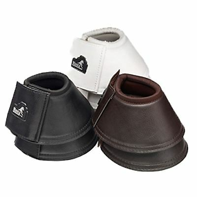 Masta Equestrian Horse Protection Mhb022 Leather Look Neoprene Over Reach Boots