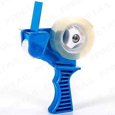 EASY GRIP SMALL BLUE TAPE DISPENSING GUN ROLLER Sellotape Cut Birthday Wrapping
