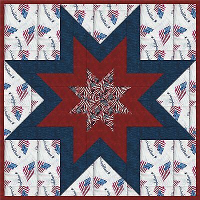 USA-FREEDOM STAR - Not Quilted, Machine Pieced