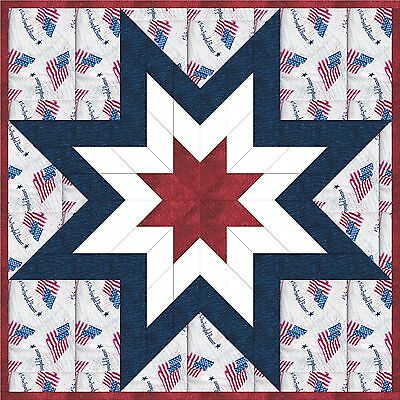 AMERICANA STAR - Not Quilted, Machine Pieced