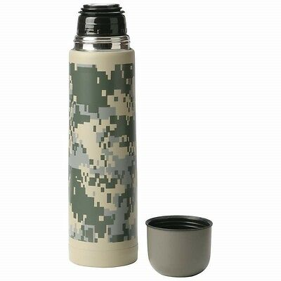 25oz Camo Stainless Steel Double Wall Vacuum Bottle Thermos Hot Soup Coffee