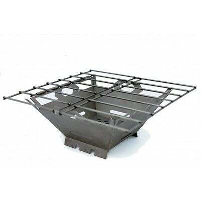 Vargo Stainless Steel Fire Box Grill Stove Camp Cooking T436