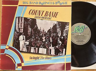 Count Basie and his Orchestra Swingin' The Blues UK 1983 LP AFS1010 Vinyl EX/VG