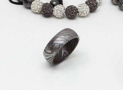 Hand Made Damascus Steel Wedding birday or Special gift Ring